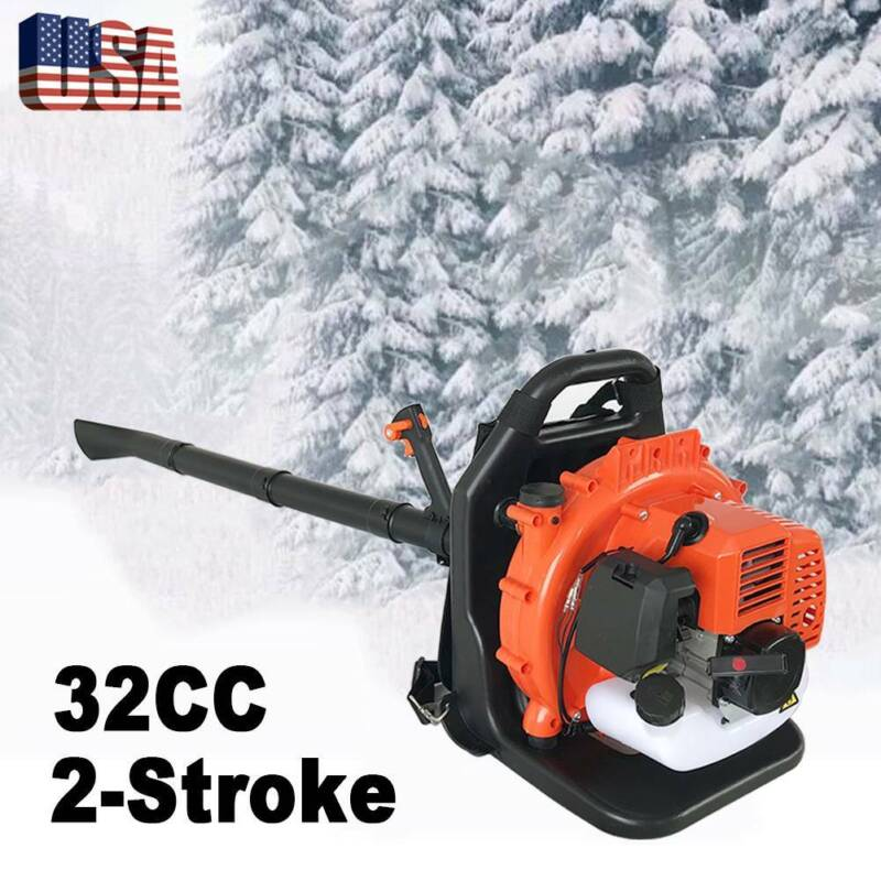 32CC 2 Stroke Gas Backpack Leaf Blower Powered Debris With P