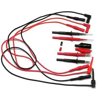 Aidetek Needle Tipped Tip Test Tl809 Leads Set For Fluke Multimeter Tlp20157 Usa