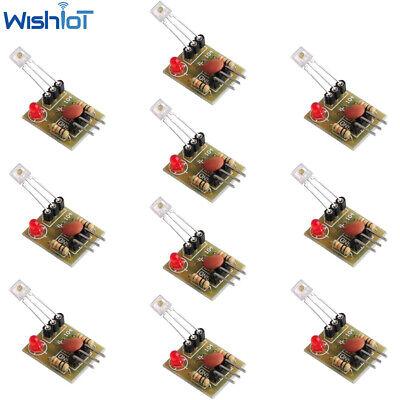 10pcs Laser Receiver Sensor Module Non-modulator Tube 5v For Diy Arduino