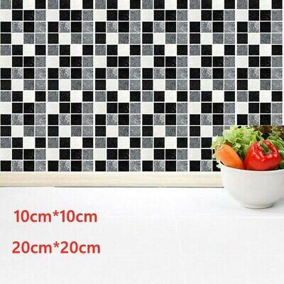 Large Kitchen Tile Stickers Bathroom Mosaic Sticker Self-adhesive Wall Decor DIY