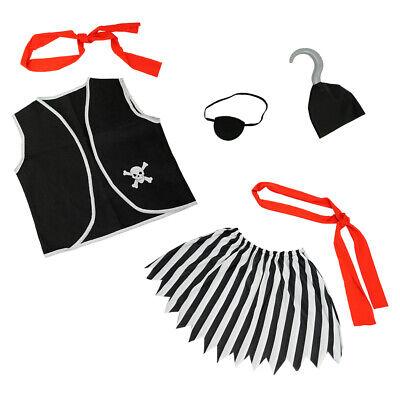 Girls Pirate Costume Accessories Set 6 Pcs - Child Halloween Birthday Party