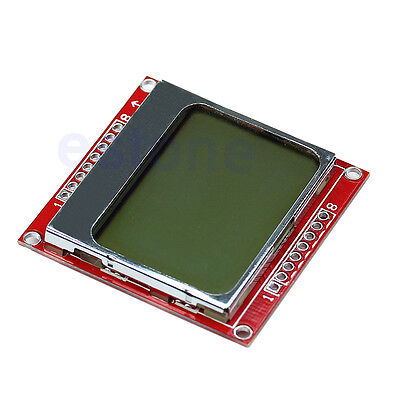For Nokia 5110 Arduino 4884 48x84 Lcd Module White Backlight Adapter Pcb