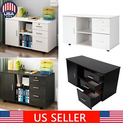 Drawer Filing Cabinet Mobile Steel File Cabinets 3 Drawers 4 Casters 1 Door
