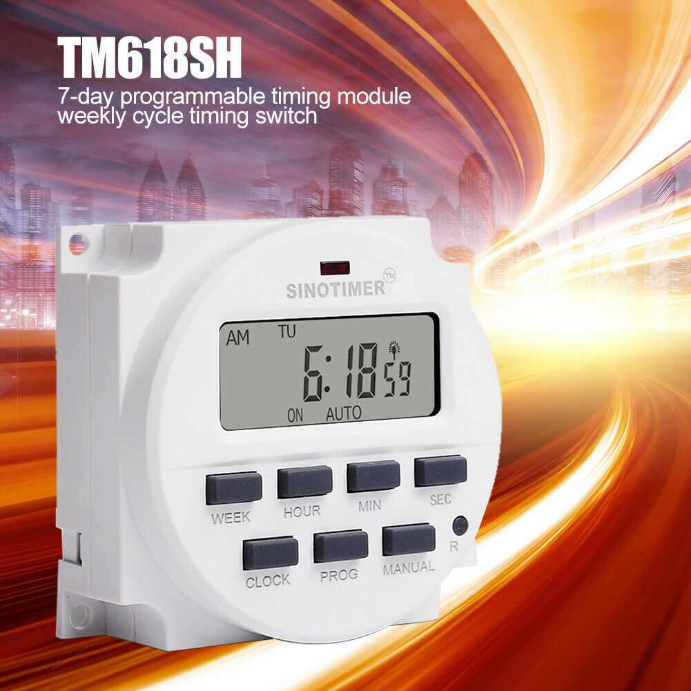TIMER SWITCH 24 HOUR AUTOMATIC HOME SECURITY HOLIDAY ENERGY SAVING SMART LIGHTS
