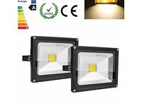 Floodlight warm White led Outdoor Security Garden Seucrity Light Lamp 50 w. 2 available