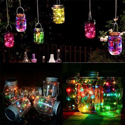 Colored Mason Jars Wholesale (20 LED Solar Mason Jar Light Lids 6Pack Fairy String Home&Garden)