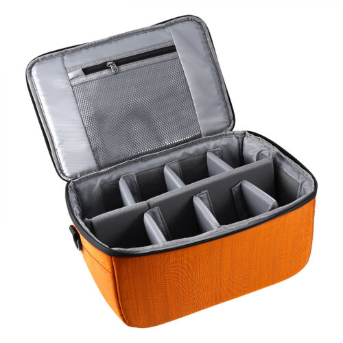 Partition Folding Flexible Padded Camera Lens Insert Bag Dividers Case for DSLR