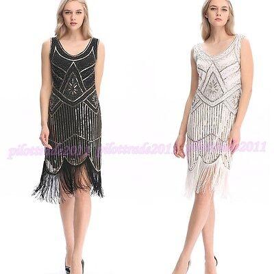Flapper Costume Adult Gatsby Girl Roaring 20s Halloween Fancy Dress Party 4-20 ()