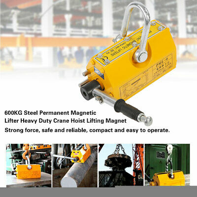New 600kg Steel Permanent Magnetic Lifter Heavy Duty Crane Hoist Lifting Magnet