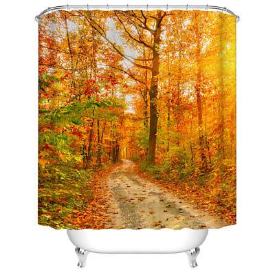 Fall Bathroom Decor (Bathroom Shower Curtain Decor Set Autumn Falling Maple Leaves Design)