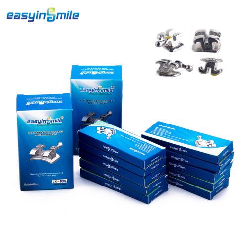 10Packs of  EASYINSMILE Orthodontic Dental Brackets MBT Meta