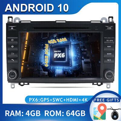 PX6 Android 10 Autoradio DVD Navi FÜR Mercedes Benz W639 Sprinter Vito Viano 4G