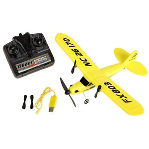 Remote Control Airplane Aircraft 2.4G 2CH RC RTF Yellow EPP Foam Plane Glider SH
