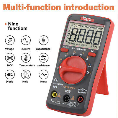 Um16 Charge Digital Multimeter Ac Dc Current Voltage Tester Usb Without Battery