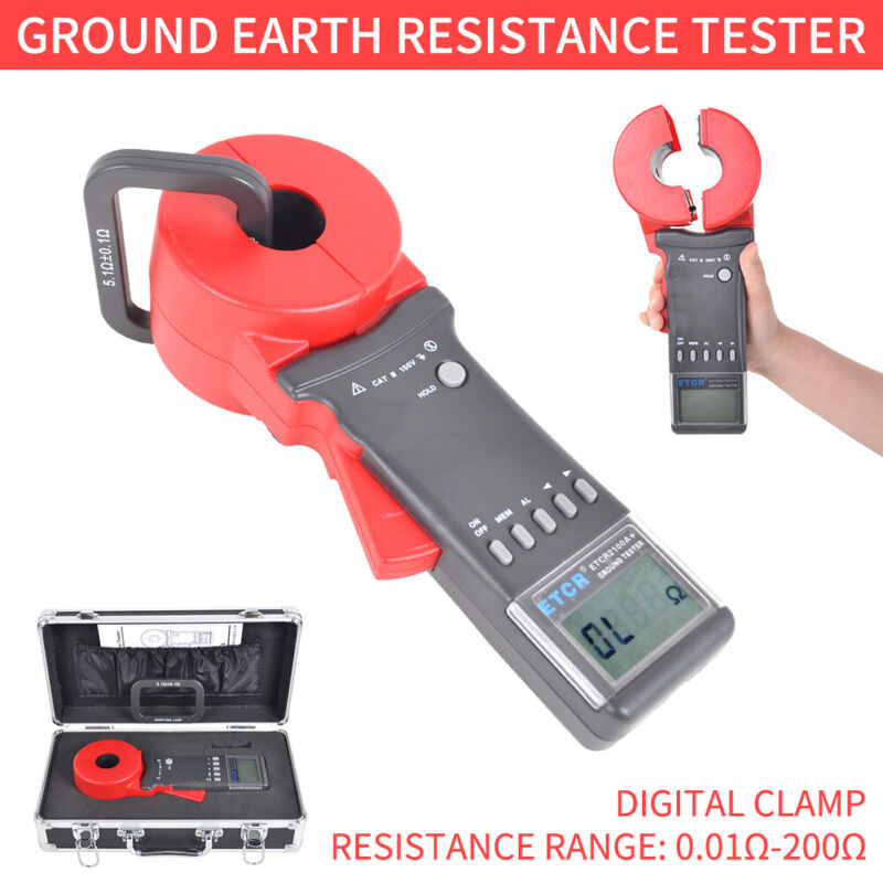 Current Testers Digital Clamp Ground Earth Resistance Tester ETCR2100A+