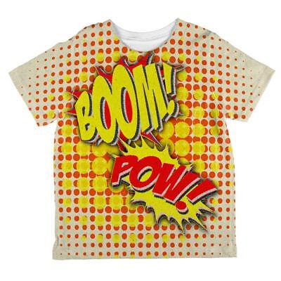 Halloween Boom Pow Vintage Comic Book Costume All Over Toddler T Shirt