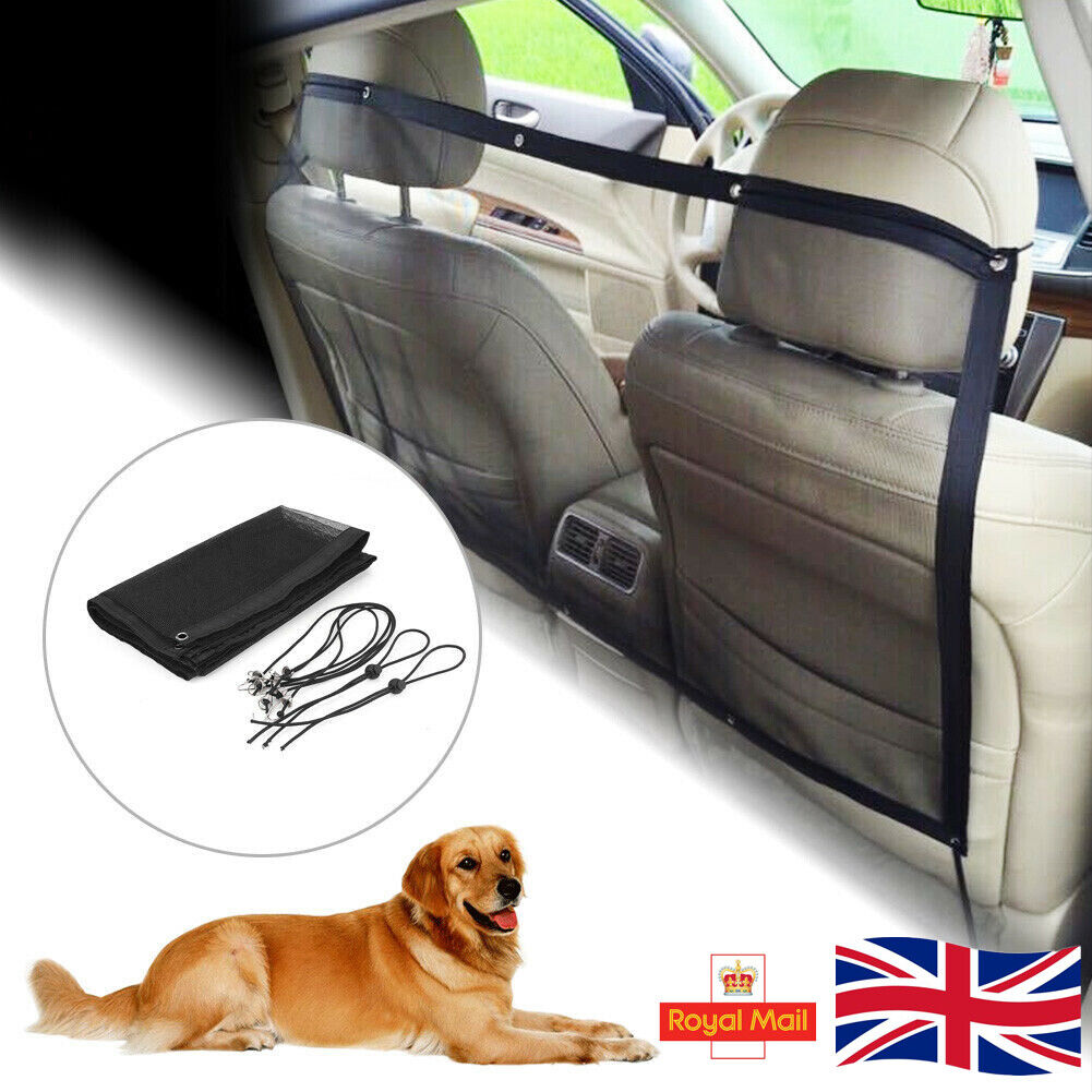 Pets Dog Car Van Safety Guard Net Front Or Back Seat Barrier Nylon Mesh