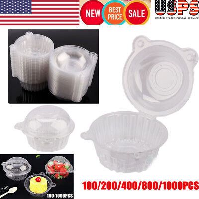100/800/1000pc Clear Plastic Cupcake Cake Dome Favor Box Container Wedding Party - Plastic Cake Containers