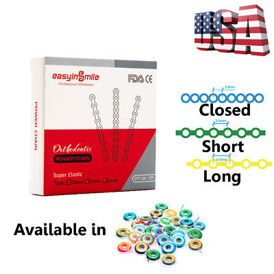 1x Spool Dental Elastic Ultra Power Chain For Braces Orthodontic 3type 15 Feet