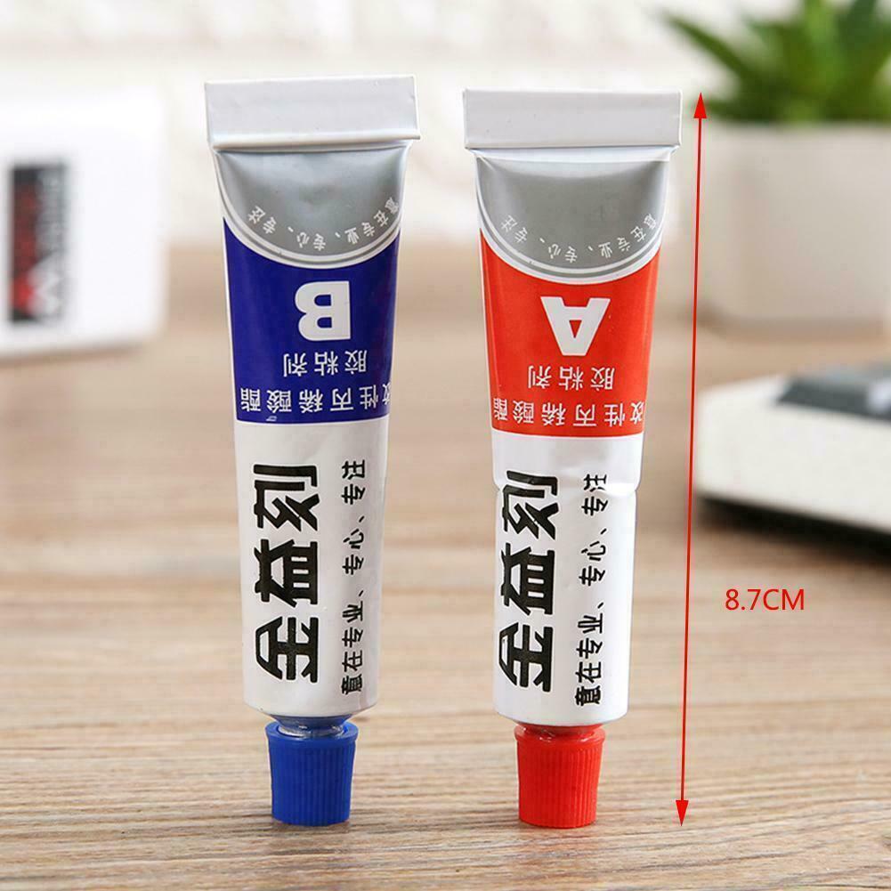 2pcs Super AB Glue Liquid Epoxy Resin Adhesive Metal Wood To