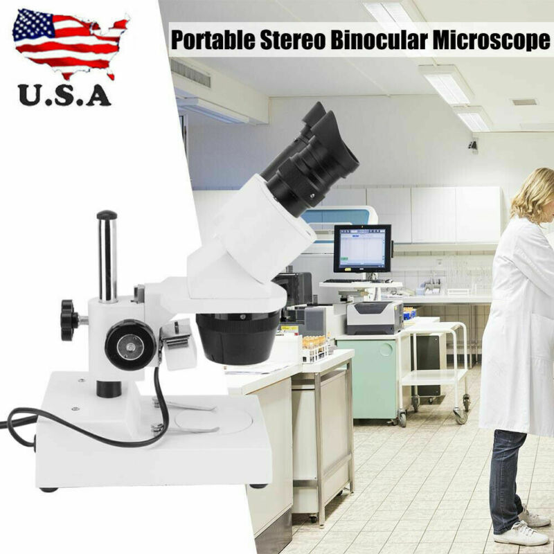 Portable 20X-40X Industry Binocular Stereoscopic Inspection Microscope