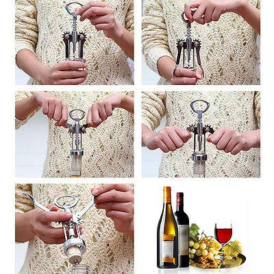 Stainless Steel Metal Wine Corkscrew Bottle Handle Opener Co