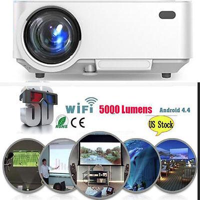 4K 3D Wifi DLP Mini Portable Full HD 1080P Home Theater Projector HDMI USB LED
