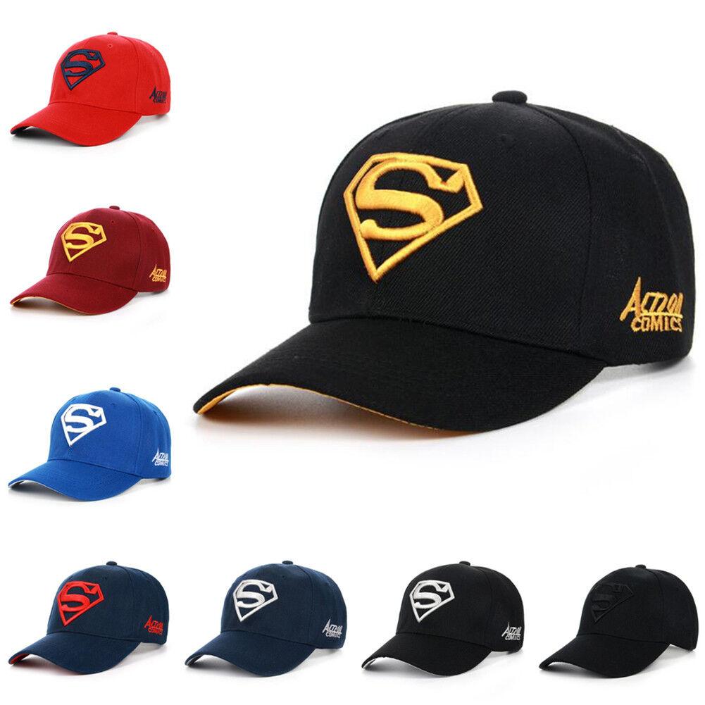 83fac4ab3b8 Details about 2018 Men Women Super Man Baseball Cap Snapback Hat Hip-Hop  Adjustable Bboy Caps