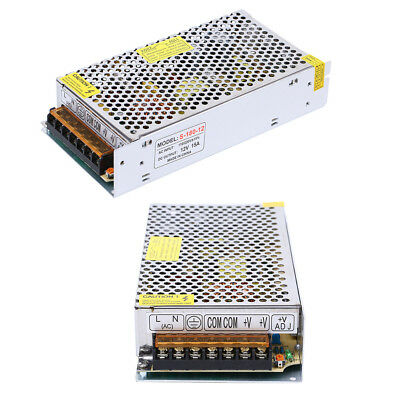 2 X Regulated Switching Dc 12v 15a Converter Adapter Power Supply For Led Light