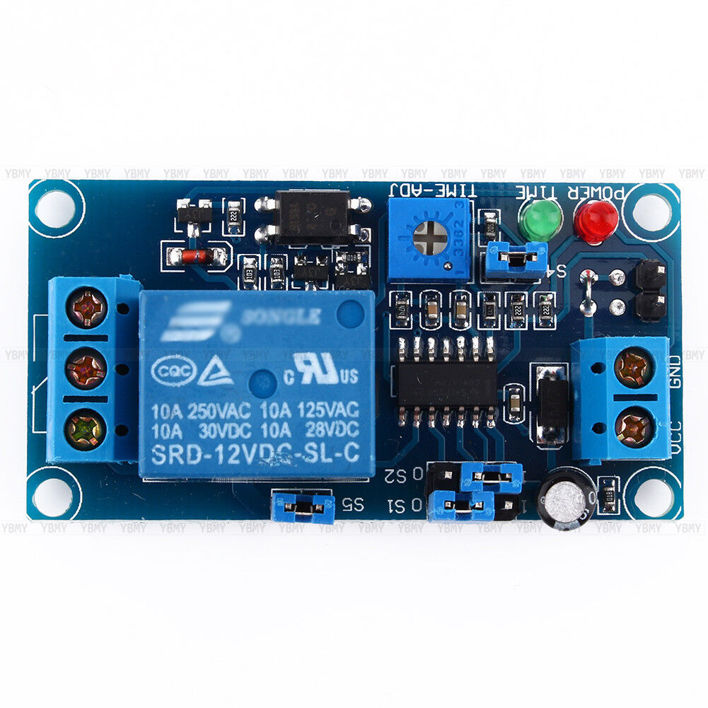 Dc 12v Normally Open Trigger Delay Relay Turn On  Turn Off