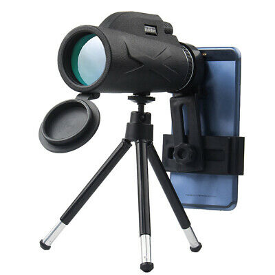 High Power 80x100 HD Monocular Telescope Night Vision Outdoor+Phone Clip Tripod