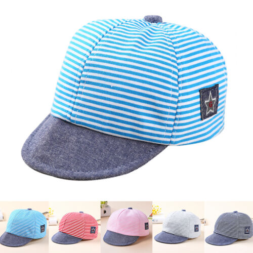 Girls Summer Beret Boy Striped Cotton Sun Hats Baby Sun Cap Baseball Cap