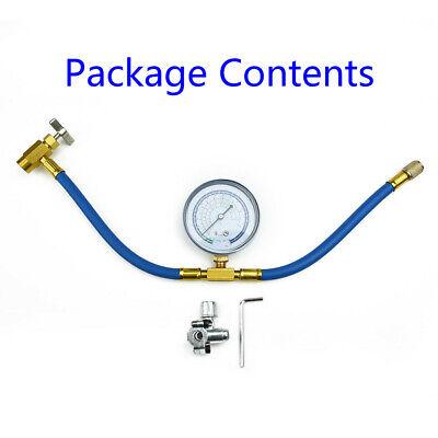 BPV31 Bullet Piercing Tap Valve Kit U-Charging Hose Refrigerant Can Tap W/ Gauge