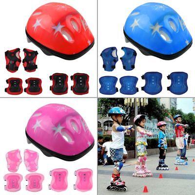 Kids Skateboard Safety Helmet Pads Set Knee Wrist Elbow Protective Gear Sets UK