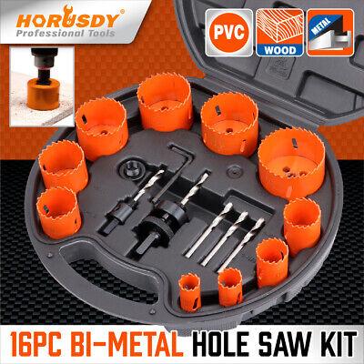 16 Pcs Bi-metal Hole Saw Kit Hole Dozer All Purpose Professional 34 To 2-12