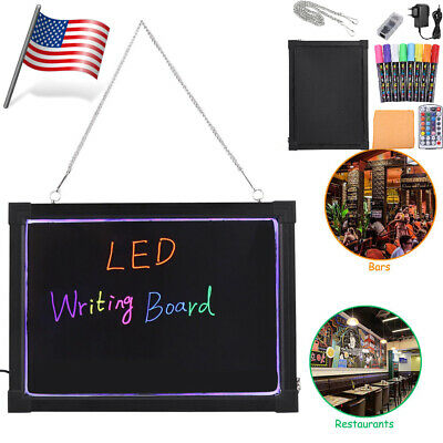 Led Message Menu Writing Sign Board Flashing Illuminated Erasable Neon Remote