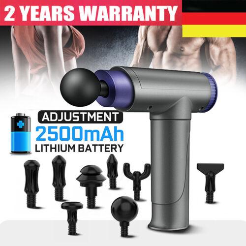 8 Köpfe Massagepistole Massagegerät Elektrisch LCD Massage Gun Muskel Massager
