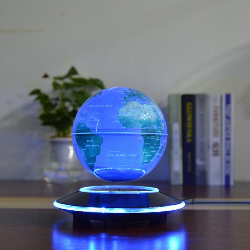 LED World Map Magnetic Levitation Floating Globe Night Light Home Office Decor