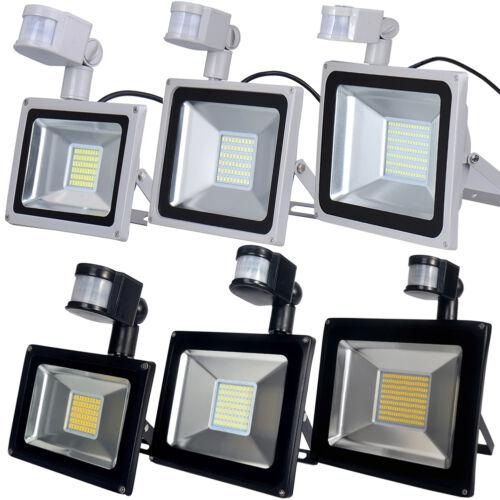30W 50W 100W PIR Motion Sensor LED Flood Light Outdoor Security Waterproof Lamp