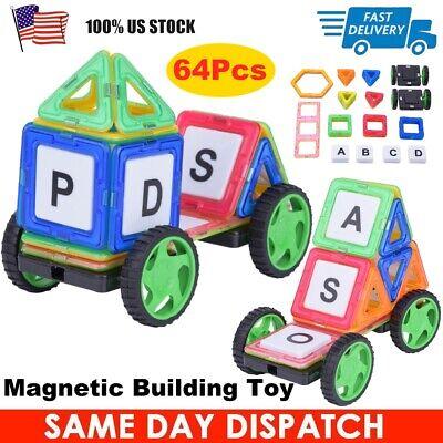 64Pcs Magic Magnetic Building Blocks Kids DIY Construction Educational Toy Gift](Toy Building Blocks)