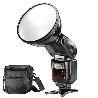 Neewer LCD Display Speedlite Slave Flash with Diffuser Lamp Reflector for Canon