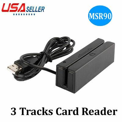 Credit Card Reader Machine Portable Mini Usb Magnetic Stripe Swiper Msr90