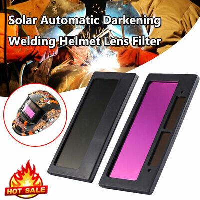 "pair of 3-11 solar Auto Darkening Welding Lens 4-1//4/"" x 2/"" Filter Fixed Shade 11"