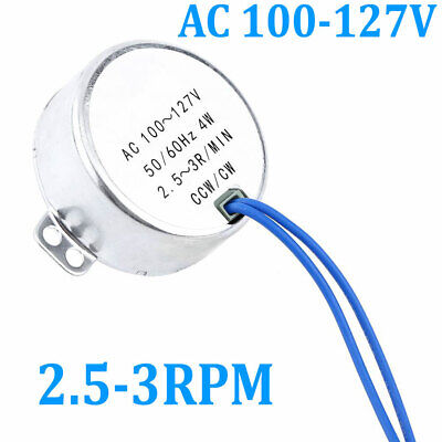 Electric Synchronous Motor Kit Ac100-127v 2.5-3rpm 4w 5060hz Ccwcw Us Delivery