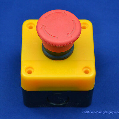 Red Sign Emergency Stop Push Button 660v Switch Top Quality