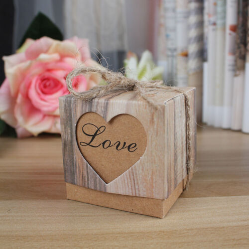 100x vintage love heart gift box sweets