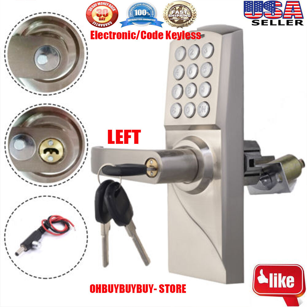digital electronic code keyless keypad security entry door lock left handle e. Black Bedroom Furniture Sets. Home Design Ideas