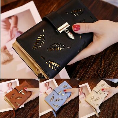 US Women Lady Clutch Leather Wallet Long Card Holder Phone Case Purse -