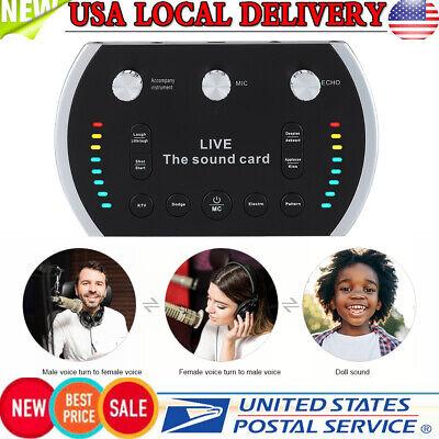 Intelligent Voice Control Voice Changer Live Sound Card Microphone