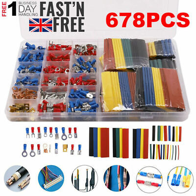 678x Car Wire Electrical Terminals Crimp Connectors Heat Shrink Tube Auto Blade